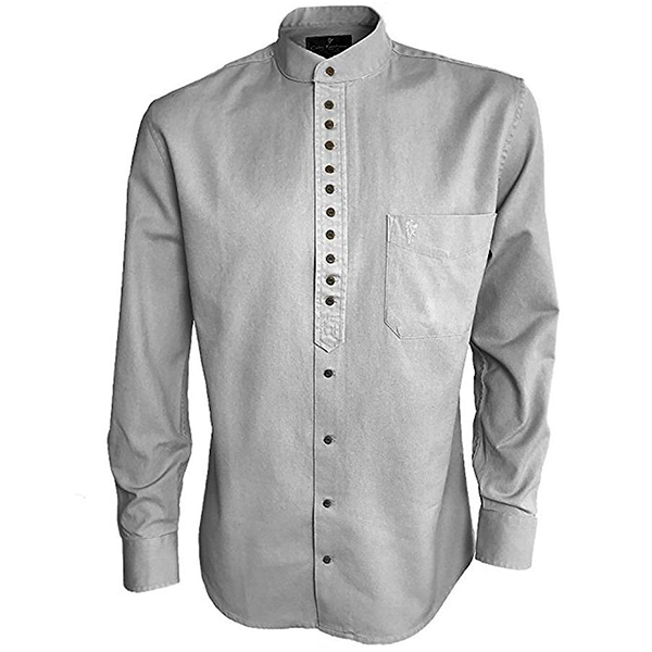 front of ash gray grandfather shirt by celtic ranch