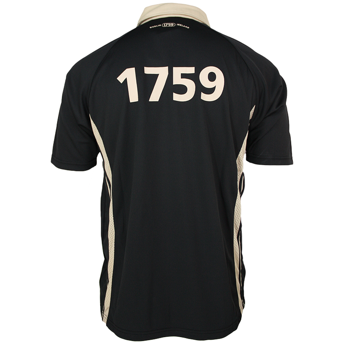 back of black dublin performance rugby polo