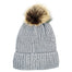 Barrington Scarves Knit Fuzzed Lined Beanie with Pom Pom
