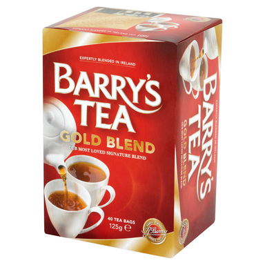 barry's irish gold blend tea with 40 bags