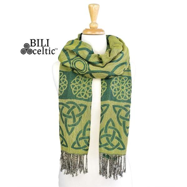 lime green anne trinity scarf by because i like it