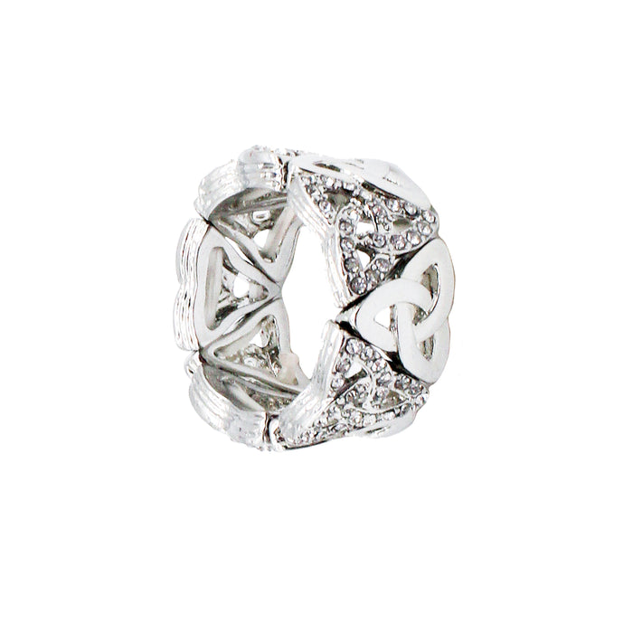 bling trinity knot ring by ecause i like it