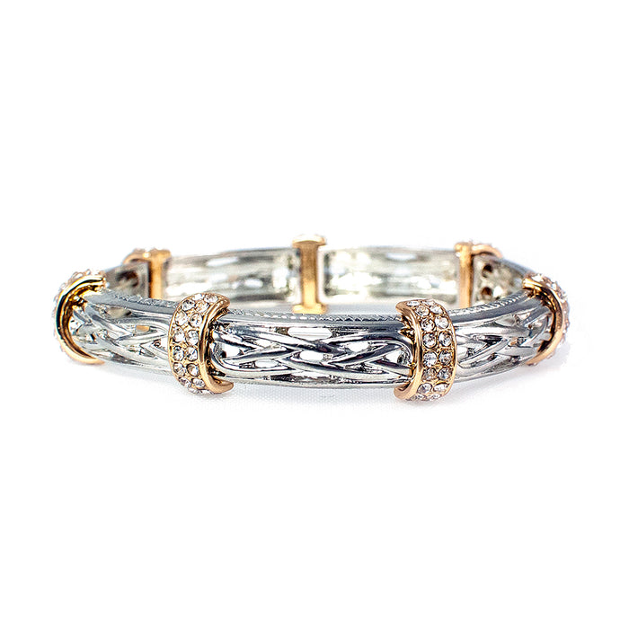celtic gold and silver crystal bracelet by because i like it