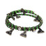 green crystal trinity wrap bracelet by bili