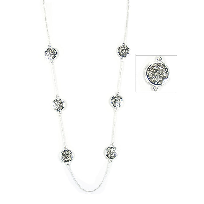 repeating trinity knotwork medallion necklace by because i like it
