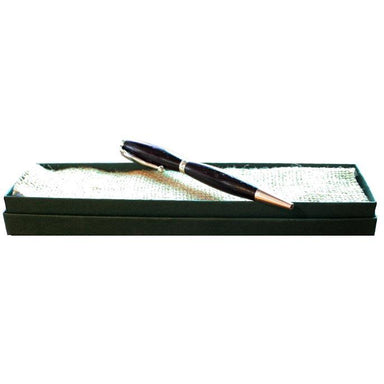 bog oak wood writing pen with box by eamon spillane
