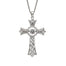 damhsa dancing cz sterling silver irish cross pendant by boru