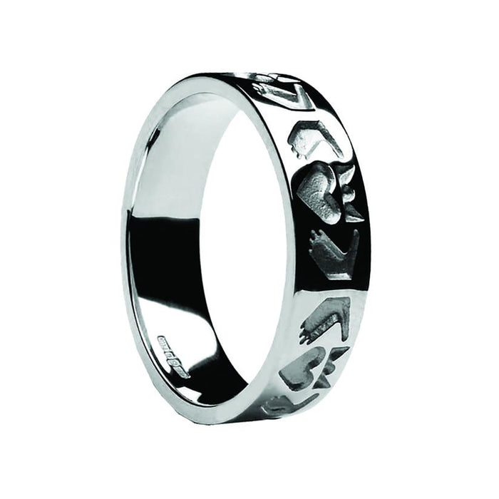 ladies friendship claddagh ring by boru