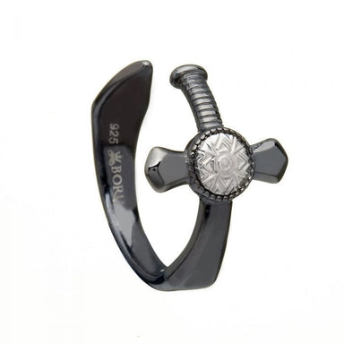 nuada sword ring black rhodium by boru