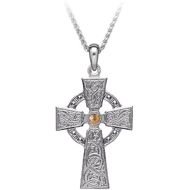 warrior shield cross plate pendant with 18k gold plate by boru