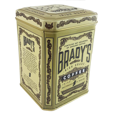 brady's coffee morning blend in a tin