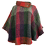 front of multi berry laura poncho by branigan weaver