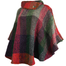 side view of multi berry laura poncho by branigan weaver