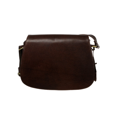 front of brown leather saddle bag by tinnakeenly