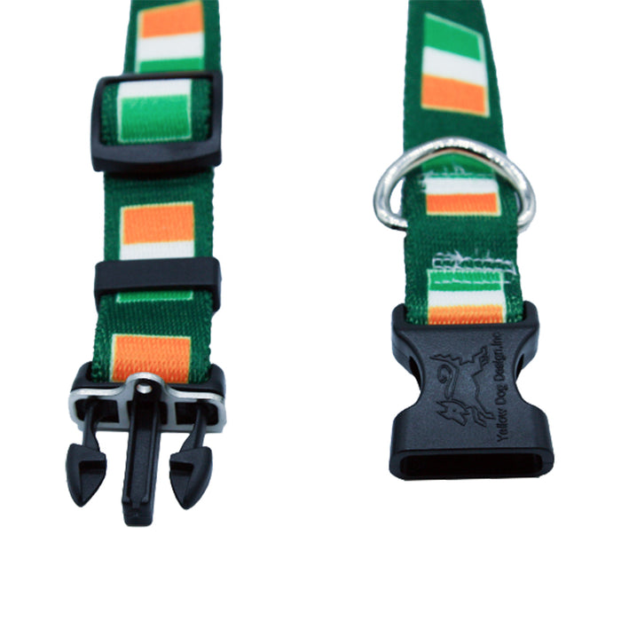 irish flag dog collar by burke and hogan