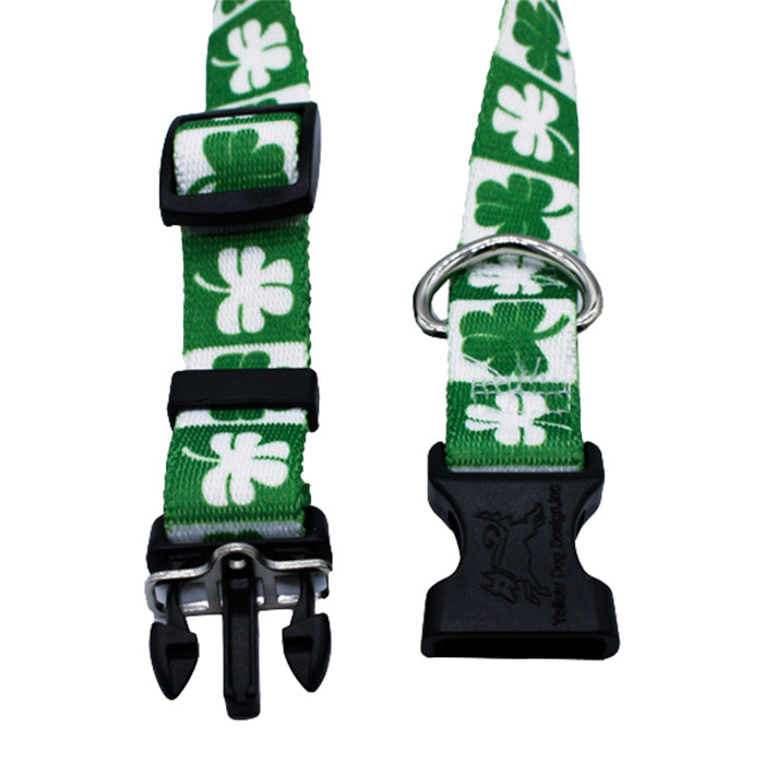 shamrock dog collar by burke and hogan