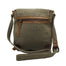 back of  tweed and leather double buckle bag by carraig donn