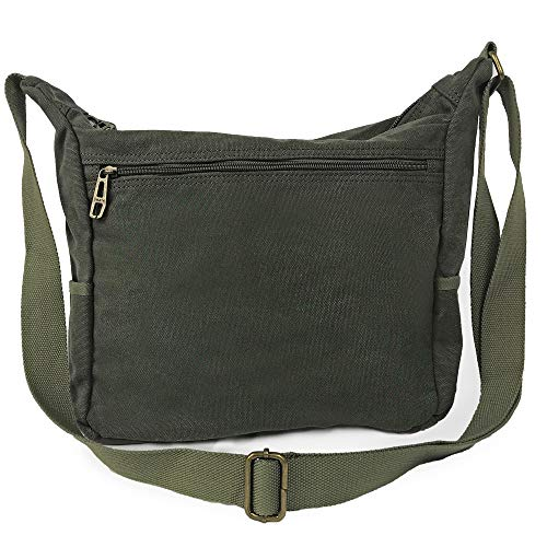 back of casual canvas messenger bag by omaya