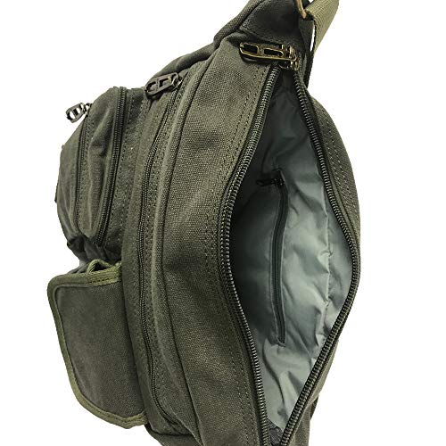 inside of casual canvas messenger bag by omaya