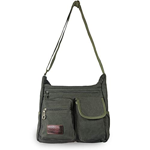 strap with casual canvas messenger bag by omaya