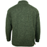 back of mens aran woolen mills green full zip sweater cardigan