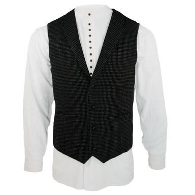 front of night check tweed waistcoat by celtic gent