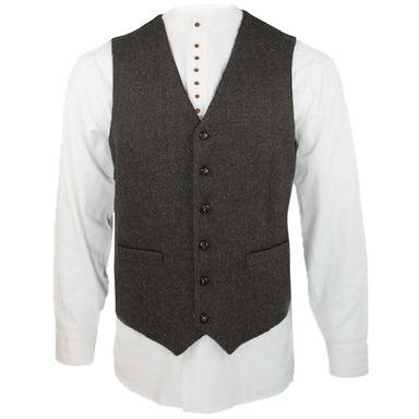 front of celtic gent tweed wool blend waistcoat