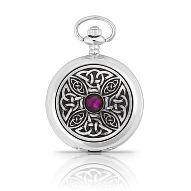 celtic knot with stone pocket watch by ae williams