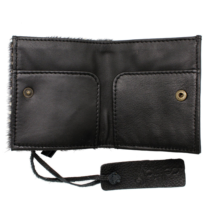 inside pockets of black axis hide leather wallet card holder by celtic ranch
