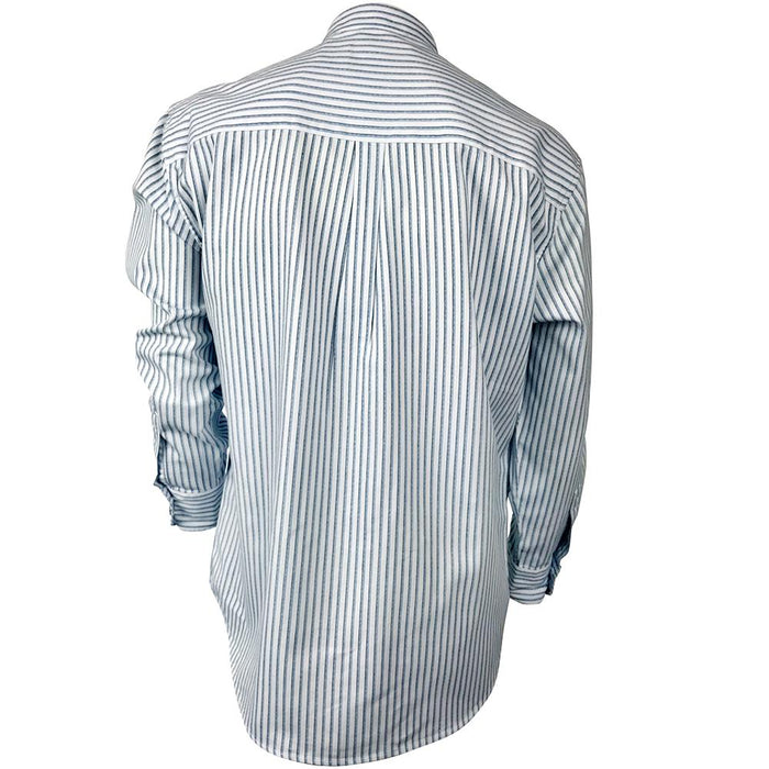 back of blue stripe celtic ranchwear shirt