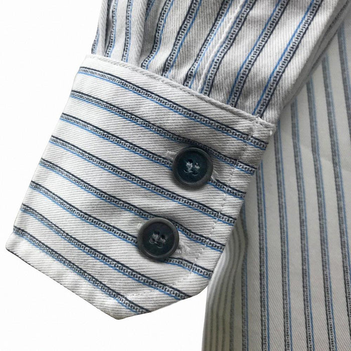 buttons of blue stripe celtic ranchwear shirt