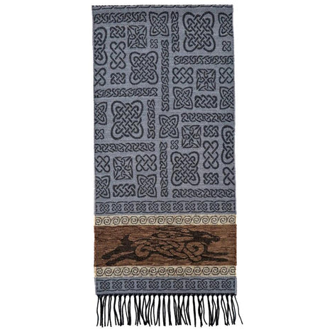 beastie hare detailed woven scarf by celtic ranchwear