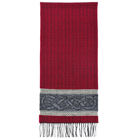 dog romany detailed woven scarf by celtic ranchwear