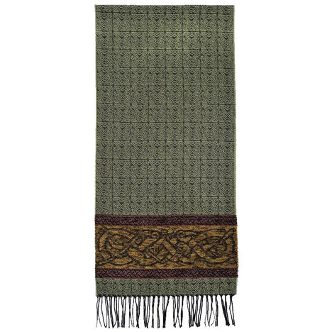 dog spruce detailed woven scarf by celtic ranchwear