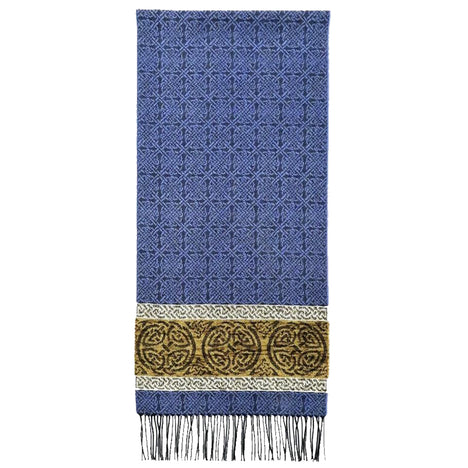 nordic blue detailed woven scarf by celtic ranchwear