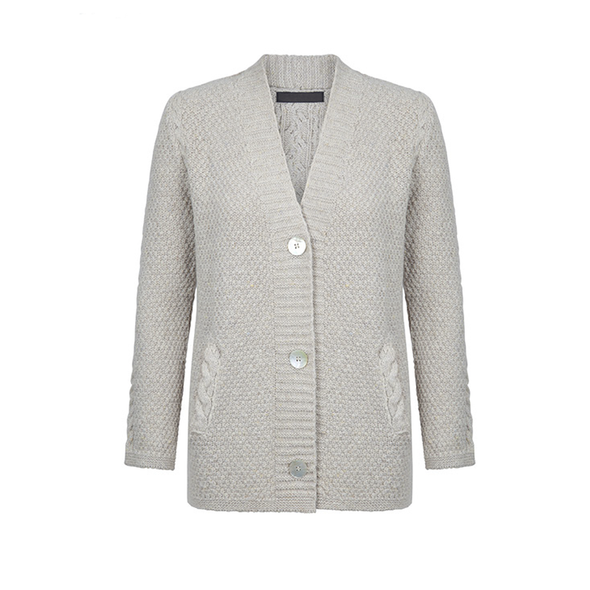 Carlingford Moss Stitch Cable Cardigan