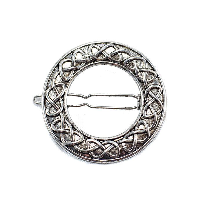 circular celtic knot barrette by because i like it