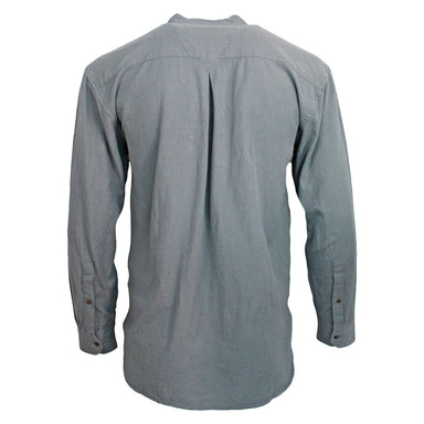back of civilian cloud grandfather collar shirt