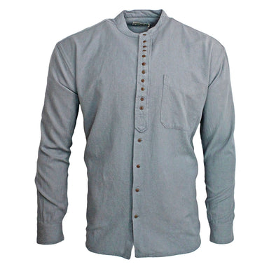 front of civilian cloud grandfather collar shirt
