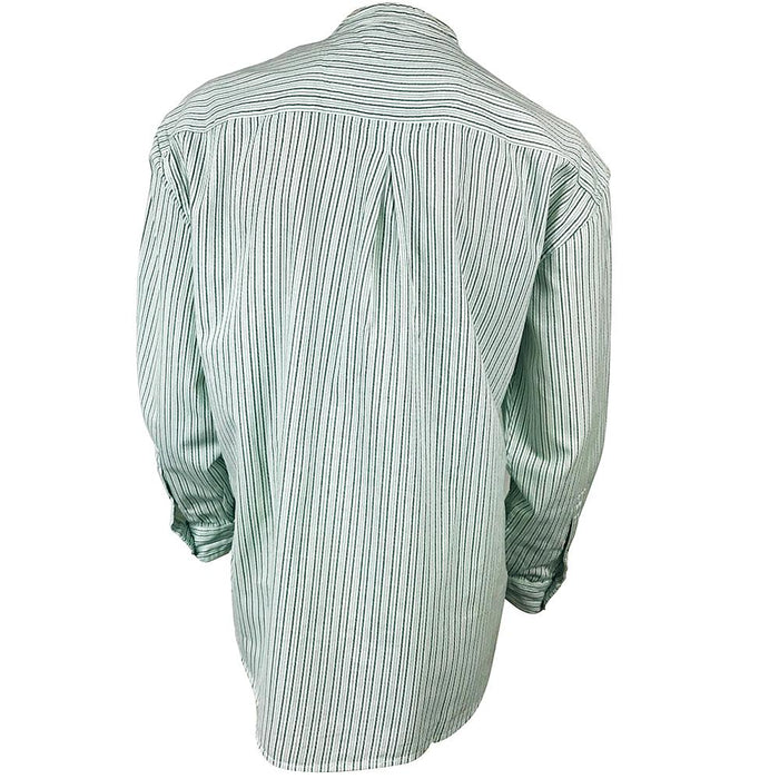 back of stripe green grandfather shirt by civilian