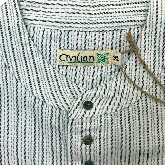 logo of stripe green grandfather shirt by civilian