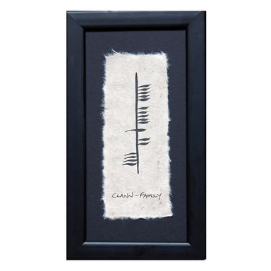 Framed Ogham Wish Pictures
