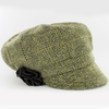 irish womens hat / color 51 green black herringbone