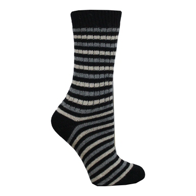 black connemara merino striped socks