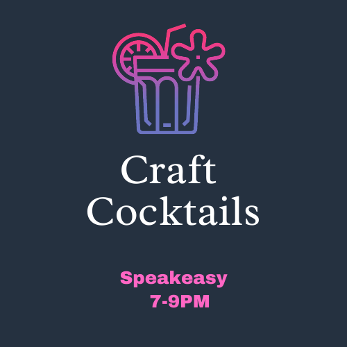 Craft Cocktail Night September 11th 7-9PM