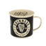 Guinness Enamel Black and Cream Mug