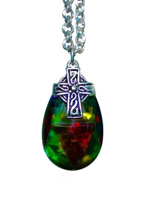Crystal Celtic Cross Necklace