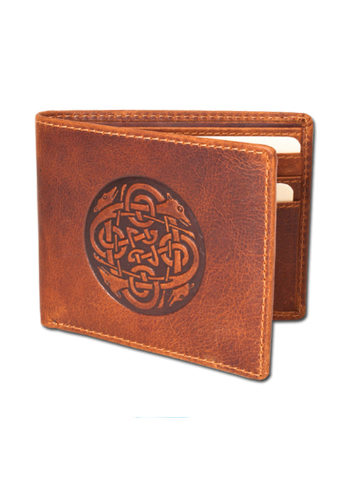 cuchulainn rustic tan bi-fold wallet by lee river