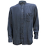 front of dark blue tencel grandfather shirt by celtic ranch