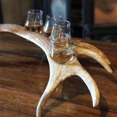 Fallow Deer Antler Whiskey Flight